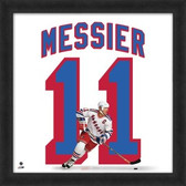Mark Messier New York Rangers 20x20 Framed Uniframe Jersey Photo AAOX090
