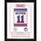 Mark Messier #11 Retired Number NY Rangers 14x20 Framed Collage w/ Nameplate