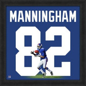 Mario Manningham New York Giants 20x20 Framed Uniframe Jersey Photo