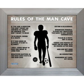 Man Cave Rules Original 11x14 Framed Photograph (11x14 Silver 7429-No Matte)