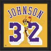Magic Johnson Los Angeles Lakers 20x20 Framed Uniframe Jersey Photo