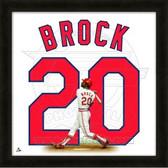 Lou Brock St. Louis Cardinals 20x20 Framed Uniframe Jersey Photo