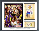 Los Angeles Lakers 2009 NBA Champions Milestones & Memories Framed Photo