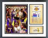 Los Angeles Lakers 2009 NBA Champions Milestones & Memories Framed Photo