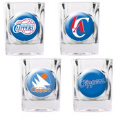 Los Angeles Clippers 4pc Square Shot Glass Set