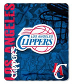 Los Angeles Clippers 50x60 Fleece Blanket - Hard Knock Design