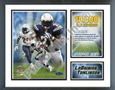 LaDainian Tomlinson 2007 San Diego Chargers 10,000 Rushing Yards Milestones & Memories Framed Photo