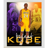 Kobe Bryant LA Lakers Team Colors Composite Vertical 11x14 Framed Collage