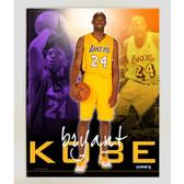 Kobe Bryant LA Lakers Team Colors Composite Vertical 11x14 Framed Collage