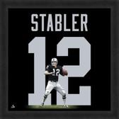 Ken Stabler Oakland Raiders 20x20 Framed Uniframe Jersey Photo