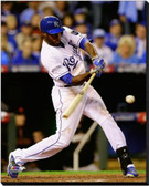 Kansas City Royals 16x20 Stretched Canvas Lorenzo Cain Game 6 of the 2014 World Series Action