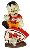 Kansas City Chiefs Zombie Figurine - On Logo