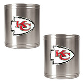 Kansas City Chiefs 2pc Stainless Steel Can Holder Set