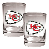 Kansas City Chiefs 2pc Rocks Glass Set