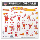 "Kansas City Chiefs 11""x11"" Family Decal Sheet"