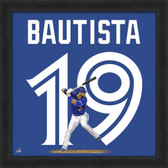 Jose Bautista Toronto Blue Jays 20x20 Framed Uniframe Jersey Photo AAOU176