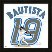 Jose Bautista  Toronto Blue Jays 20x20 Framed Uniframe Jersey Photo