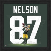 Jordy Nelson Green Bay Packers 20x20 Framed Uniframe Jersey Photo