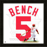 Johnny Bench Cincinnati Reds 20x20 Framed Uniframe Jersey Photo
