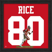 Jerry Rice San Francisco 49ers 20x20 Framed Uniframe Jersey Photo