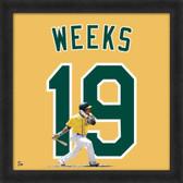 Jemile Weeks Oakland Athletics 20x20 Framed Uniframe Jersey Photo