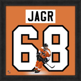 Jaromir Jagr Philadelphia Flyers 20x20 Framed Uniframe Jersey Photo