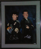 Jaromir Jagr & Mario Lemieux Pittsburgh Penguins Signed 20x24 Framed Photo