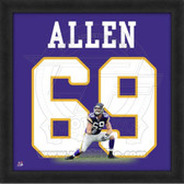 Jared Allen Minnesota Vikings 20x20 Framed Uniframe Jersey Photo