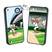 Iphone 4/4S MLB Seattle Mariners Mascot Lenticular Case