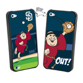 Iphone 4/4S MLB San Diego Padres Mascot Lenticular Case