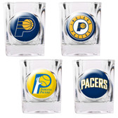 Indiana Pacers 4pc Square Shot Glass Set