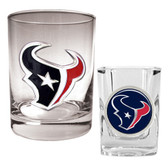Houston Texans Rocks Glass & Shot Glass Set
