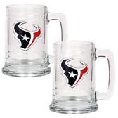 Houston Texans 2pc Glass Tankard Set