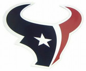 "Houston Texans 12"" Logo Car Magnet"