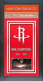 Houston Rockets Framed Championship Banner