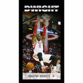 Houston Rockets Dwight Howard Player Profile Wall Art 9.5x19 Framed Photo