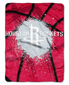 "Houston Rockets 60""x80"" Royal Plush Raschel Throw Blanket - Shadow Play Design"