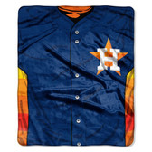 "Houston Astros 50""x60"" Royal Plush Raschel Throw Blanket - Jersey Design"