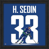Henrik Sedin Vancouver Canucks  20x20 Framed Uniframe Jersey Photo