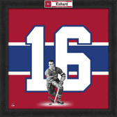 Henri Richard Montreal Canadians 20x20 Framed Uniframe Jersey Photo