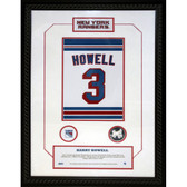 Harry Howell #3 Retired Number NY Rangers 14x20 Framed Collage w/ Nameplate
