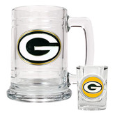 GREEN BAY PACKERS Shot Glass & Mug Set