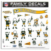 "Green Bay Packers 11""x11"" Family Decal Sheet"