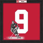 Gordie Howe Detroit Red Wings 20x20 Framed Uniframe Jersey Photo