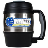 Golden State Warriors 52oz. Stainless Steel Macho Travel Mug with Bottle Opener