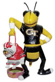 Georgia Tech Yellow Jackets Lester Single Choke Rival Ornament