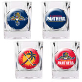 Florida Panthers 4pc Square Shot Glass Set