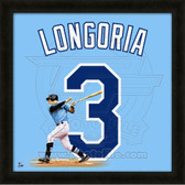 Evan Longoria Tampa Bay Rays 20x20 Framed Uniframe Jersey Photo