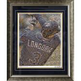 Evan Longoria Tampa Bay Devil Rays Mosaic Framed 16x20 Photo (Ltd of 1000)