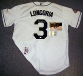 Evan Longoria Hand Signed Rays 2008 World Series Authentic White Jersey